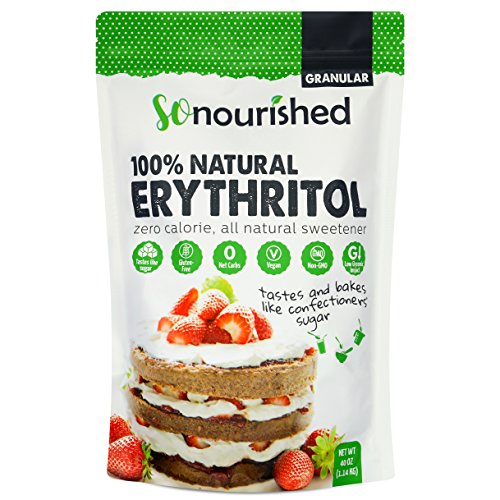 Erythritol Sweetener Granular (2.5 lb / 40 oz) - No Calorie Sweetener, Non-GMO, Natural Sugar Substitute (2.5 Pounds)