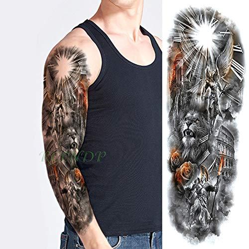 ljmljm 3 Etiqueta PC Impermeabilizan tótem Tatuaje Negro Grande ...