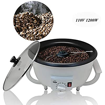 Coffee Roaster Machine Home Coffee Bean Baker 110V Electric Household Coffee Bean Roasting Baking Machine 750g Capacity Dried Fruit Temperature Adjustable Durable Non-Stick Coating Baking Tools US Stock