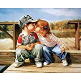 Shukqueen Diy Oil Painting, Adult's Paint by Number Kits, Acrylic Painting-Ready for Love 16X20 Inch (Frameless)