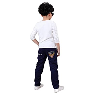 Amazon Com For 4 13 Years Old Teen Boys Stylish Embroidery Pants