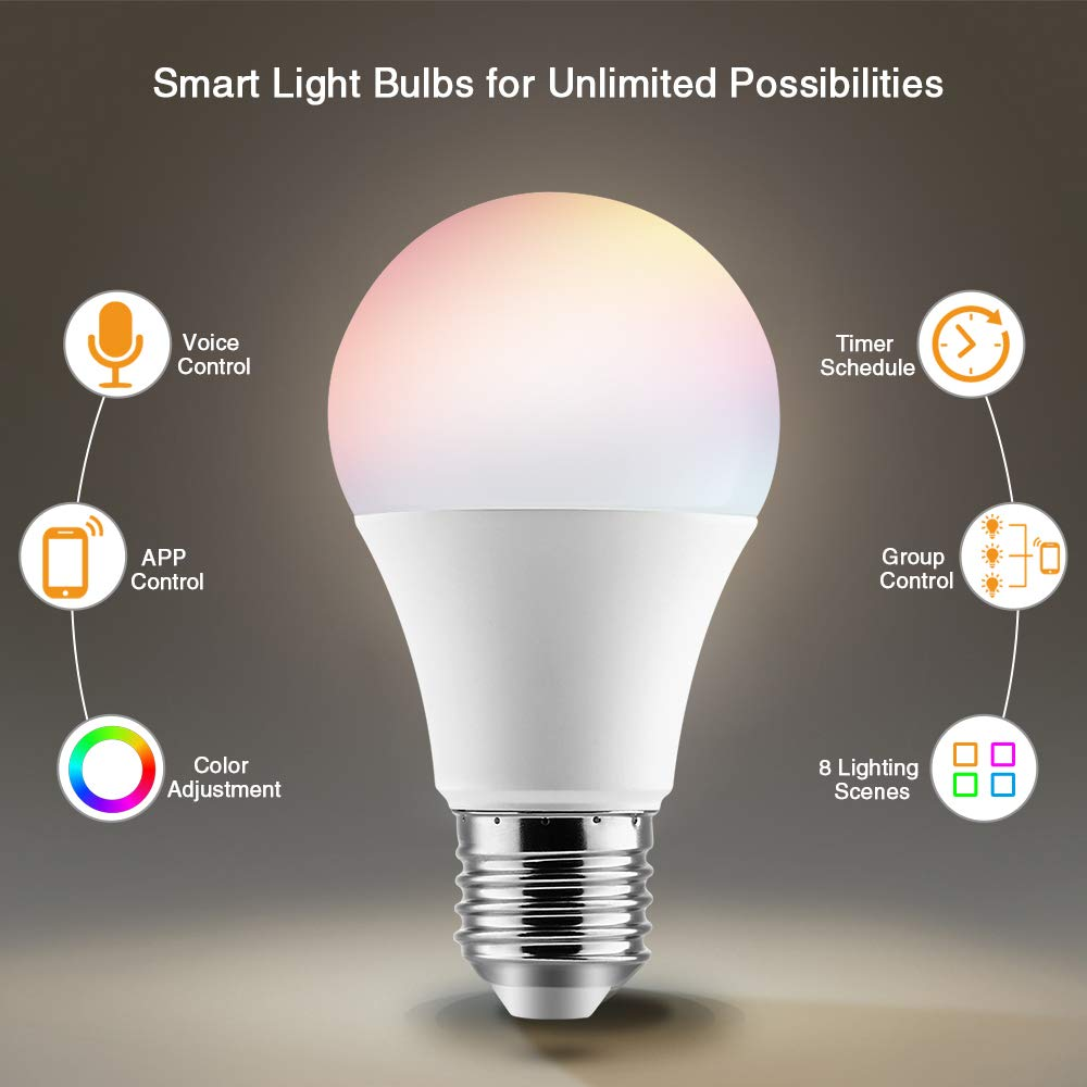 Brizlabs Smart Light Bulbs 9w Wifi Bulbs No Hub Required