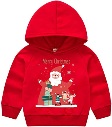 ZHMEI Camisa Amarilla niño | Toddler Baby Kids Boys Girls Christmas Santa Hooded Sweatshirt Tops T-Shirt 12 Meses - 5 años: Amazon.es: Ropa y accesorios