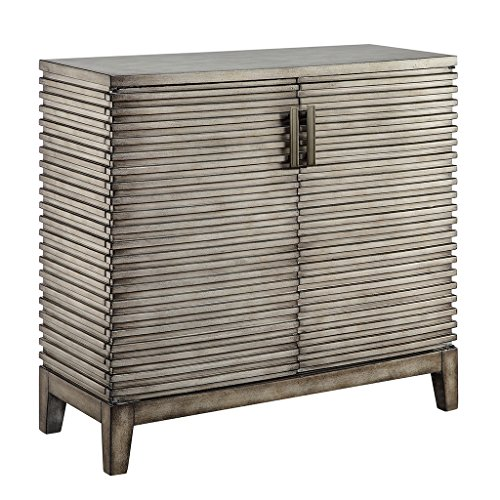 Madison Park West Storage Chest - Hardwood Living Room Storage - Brown, Rustic Style Dresser Chest - 1 Piece 2 Door, Ridge Chest For Bedroom (Door Ridge Chest)