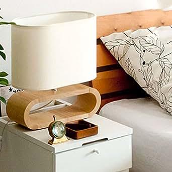 lámpara de mesa de madera lámpara de la mesilla de dormitorio de madera idílica moderna de la moda minimalista lámpara de madera original