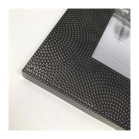 """PF+A 8x10 Picture Frame Wide Morocco Black Metallic - Real Glass - Design: Black with a subtle bronze tone and textured mosaic pattern, made from recycled polystyrene Photo size: Display your 8 x 10"""" photo / Visible area will be slightly less (see image 4) Table top & wall hanging - Display as either vertical or horizontal - picture-frames, bedroom-decor, bedroom - 51B 39ReJkL. SS570  -"""