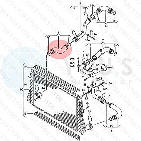 Turbo Hose Intercooler Hose Inner Diameter Approx 55 X 60 Mm 1