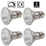 [4 Pack] Simba Lighting™ Halogen 39PAR20/FL 120V 39 Watt PAR20...