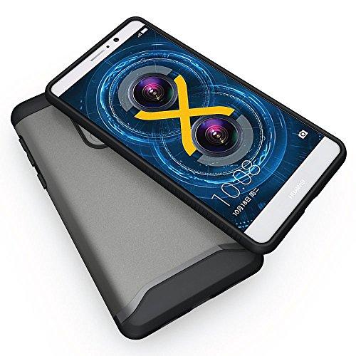 Huawei Honor 6X Funda, Caja protectora TUDIA MERGE TAREA PESADA Protección EXTREME de doble capa para Huawei Honor 6X (Oro Rosa) Grafito