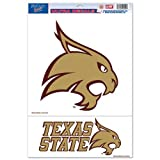 "NCAA Texas State University Multi Use Decal, 11 x 17"", Multicolor"