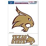 "NCAA Texas State University Multi Use Decal, 11 x 17"", Multicolor"