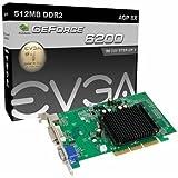 EVGA GeForce 6200 512 MB DDR2 AGP 8X VGA/DVI-I/S-Video Graphics Card, 512-A8-N403-LR