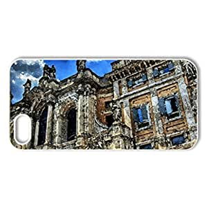 Around the world - Case Cover for iPhone 5 and 5S (Medieval Series, Watercolor style, White)