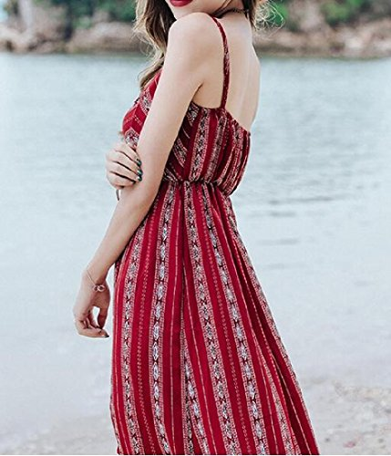 Party Boho Maxi Dress Club Women Classic Coolred Evening For As2 Sleeveless PxAF7T