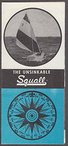 (Chestnut Hill Boat Co Unsinkable Squall Sailboat sales folder 1960s)