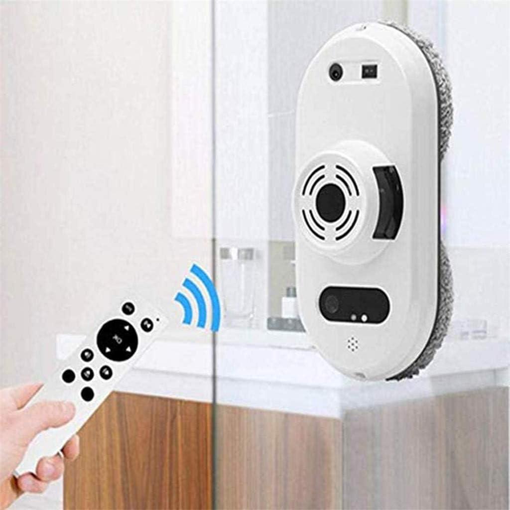 Robot Nettoyeur De Vitres avec Télécommande, Robot Laveur De Vitre Intelligent pour Fenêtres, Verre, Carreaux, Nettoyage De Salle De Bain, Garantie De Sécurité Multiple,C B