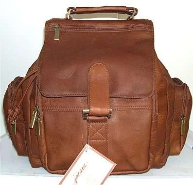 Jacara by David King Leather Backpack 323 (Tan), Outdoor Stuffs