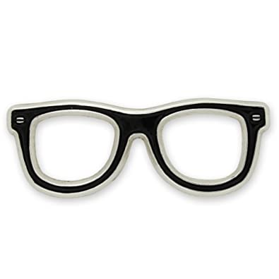 pinmarts black glasses frames eyeglasses enamel lapel pin
