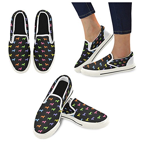canvas shoes multi colored dachshund puppies canvas