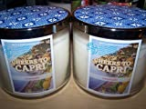 Lot of 2 Bath & Body Works Cheers to Capri Limoncello 3 Wick Scented Candle 14.5 Oz Each (Scented)