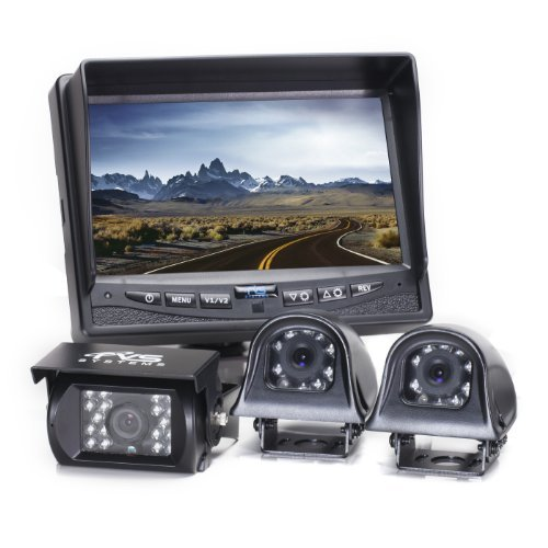 Rear View Safety RVS-770616N Backup Camera System with 7' TFT LCD Display and Side Cameras