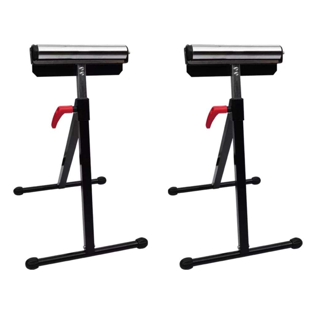 Vislone Adjustable Roller Stands 2 PCS Set Heavy Weight Roller Support Stand