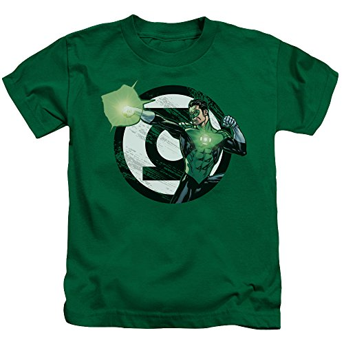 Justice League - Youth Blasting Logo T-Shirt Kelly Green