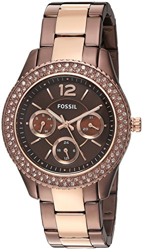 Fossil Women's Quartz Stainless Steel Watch, Color:Brown (Model: ES4079)