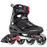 Rollerblade Zetrablade Skate - 4x80mm/84A Wheels - SG 5 Performance Bearings - Black/Red - US Mens 9 (27.0) (Renewed)