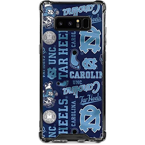 Skinit North Carolina Tar Heels Print Galaxy Note 8 Clear Case - Skinit Clear Case - Transparent Galaxy Note 8 Cover