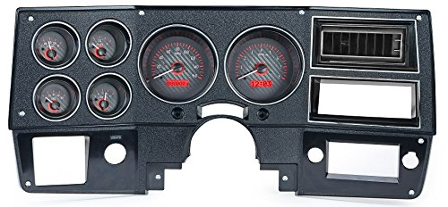 Dakota Digital 73-87 Chevy Truck VHX System, Carbon Fiber Face - Red Display ()