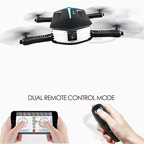 BTG JJRC H37 MINI Baby Elfie Foldable FPV WIFI RC Quadcopter Selfie Pocket Drone with 720P HD Camera - Gravity Sensor Control, APP Control, Altitude Hold, Stable Hovering, 3D Flips and Rolls ...
