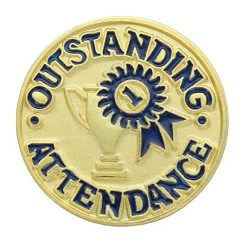 [Outstanding Attendance Lapel Pin - Pack of 10] (Attendance Award Pin)