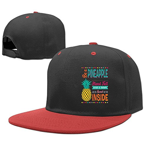 YELOFISH Kids' Hip Hop Baseball Caps Pineapple Snapback Hats
