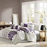Teen Girls Brigette Purple 7-Pc Comforter Set Bedding Cal King Cute PB Vogue Bedspread Duvet For College Teenager