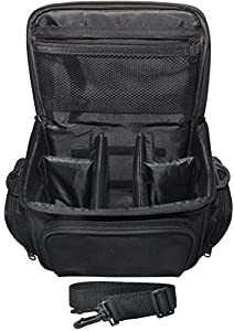 Xit XTCC4 Deluxe Digital Camera/Video Padded Carrying Case, Medium (Black) by Xit Group