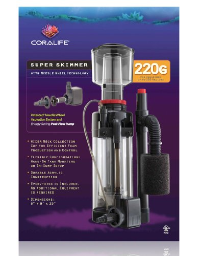Coralife Energy Savers ACL33004 Super Skimmer W/Pump 220gal by Coralife