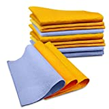 Kitchen Luffa Fibers Towel, Essort Machine Washable Super Absorbent Towels, 22 packs, Blue, Orange, 11.811.8 inches, 11.810.24 inches