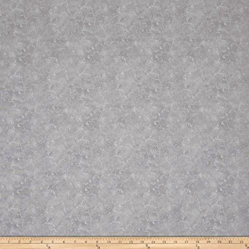 108' Wide Quilt Backing (Wilmington Prints Essentials 108in Wide Filigree Light Gray Fabric By The Yard)
