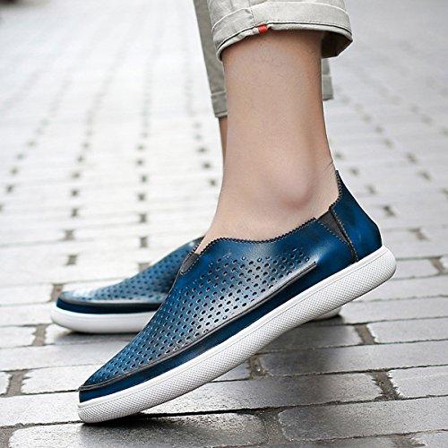 Miyoopark - zapatilla baja hombre Style2-Blue