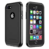 iPhone 7/8 Case, ImpactStrong Ultra Protective Case with Built-in Clear Screen Protector Full Body Cover for iPhone 7 2016 /iPhone 8 2017 (Black)