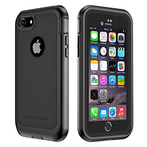 IMPACTSTRONG iPhone 7/8 Case, Ultra Protective Case with Built-in Clear Screen Protector Full Body Cover for iPhone 7 2016 /iPhone 8 2017 (Black)