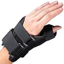 OTC Lightweight Breathable Wrist/Thumb Splint, Left, Small
