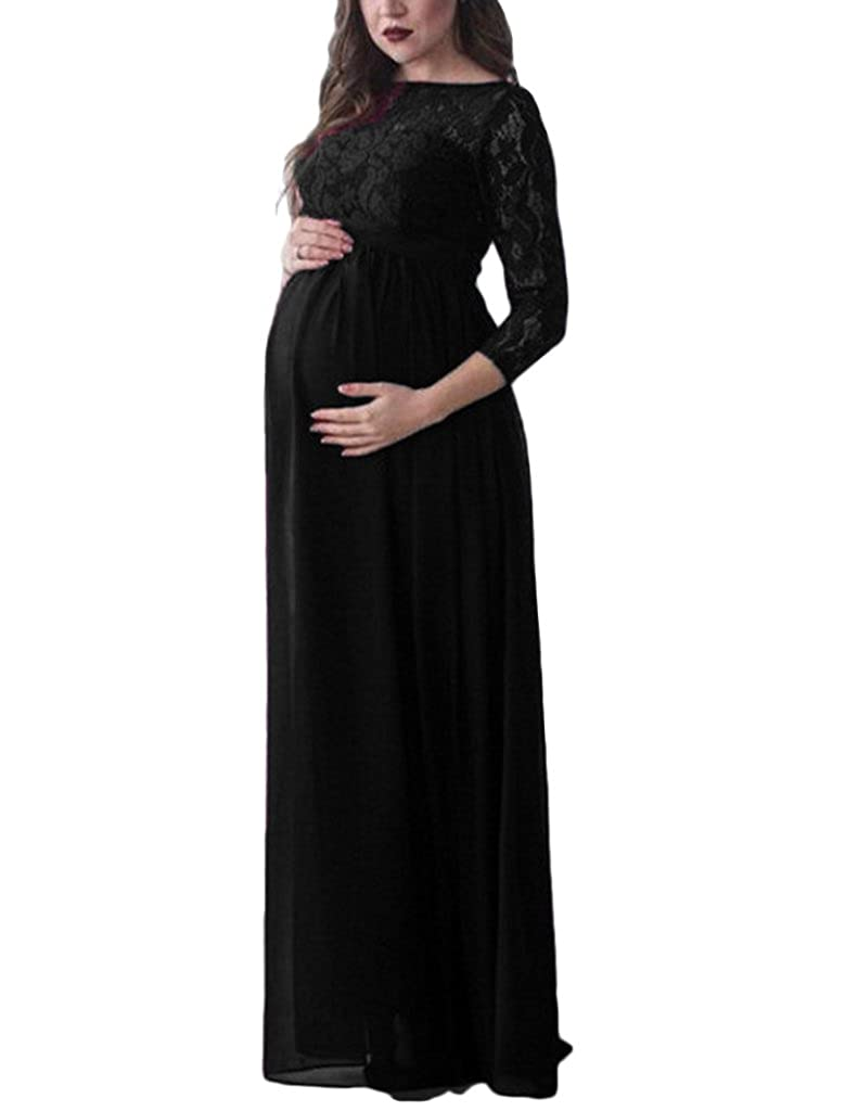 Plus size maternity dresses for baby shower choice image maternity dresses amazon sicily lace top chiffon 34 sleeves maternity photography props dress evening bride bridesmaids ombrellifo Gallery