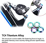 Titanium Brake Caliper Fixed Bolts Gasket Spacer TC4 M6 Bike Hydraulic Brake Caliper Bolts Spacer for Mountain