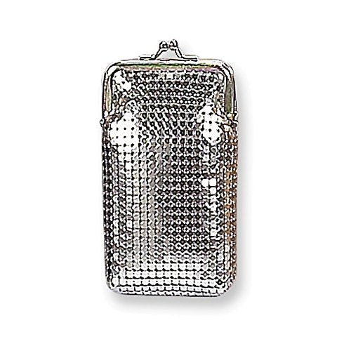 (Silver-tone Sequins Cigarette Case)