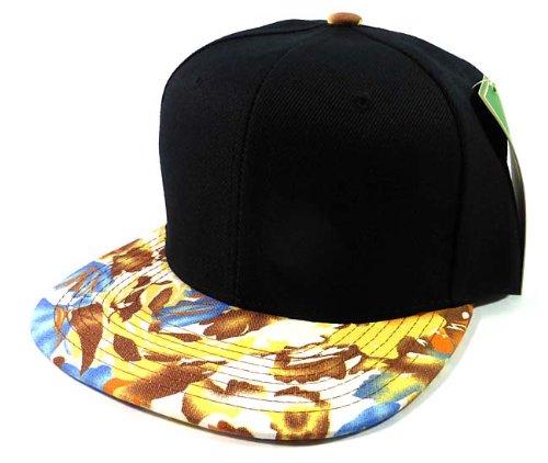 Blank Floral Snapback Hats Caps Fashion - Black   Autumn Leaves Brown (Mens Swix Beanie)