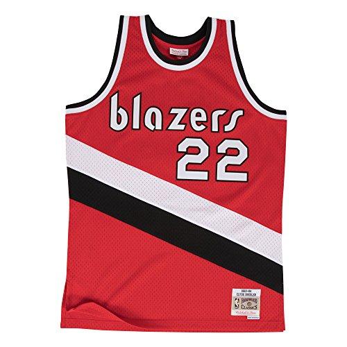 Mitchell & Ness Clyde Drexler Portland Trail Blazers Swingman Jersey Red (X-Large) (Mitchell And Ness Jersey Nba)