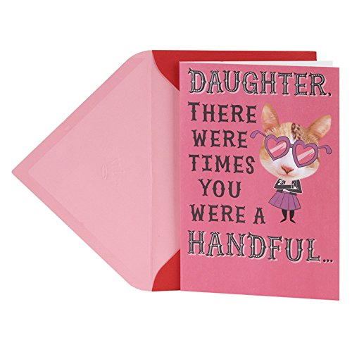 Hallmark Funny Valentine's Day Greeting Card for Daughter (Cat with Glasses Pop Up)