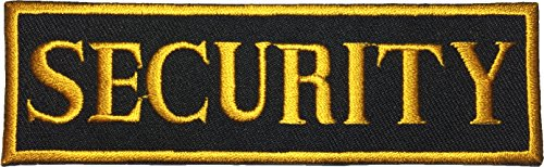 Papapatch Security Uniform Officer Nametape Costume Sewing Iron on Embroidered Applique Badge Sign Patch - Yellow on Black (Kids Union Officer Hat)